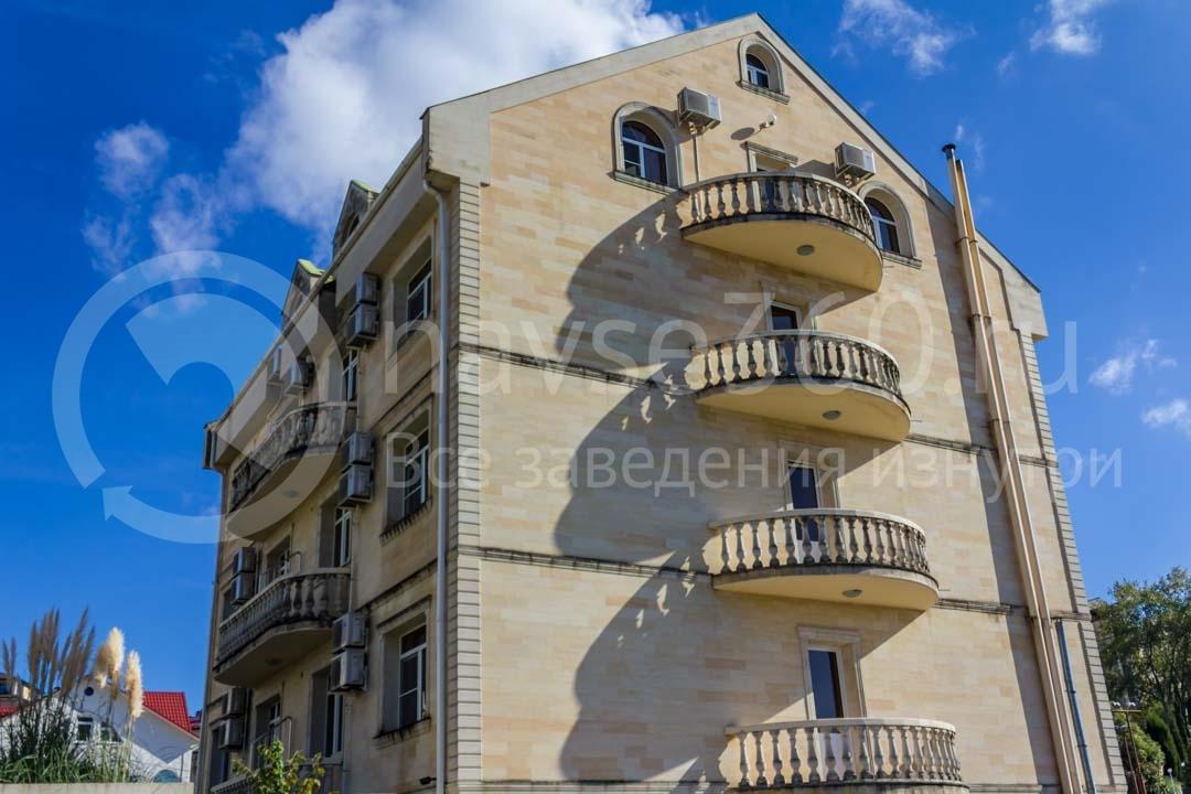 Фасад гостиницы Marika в Сочи