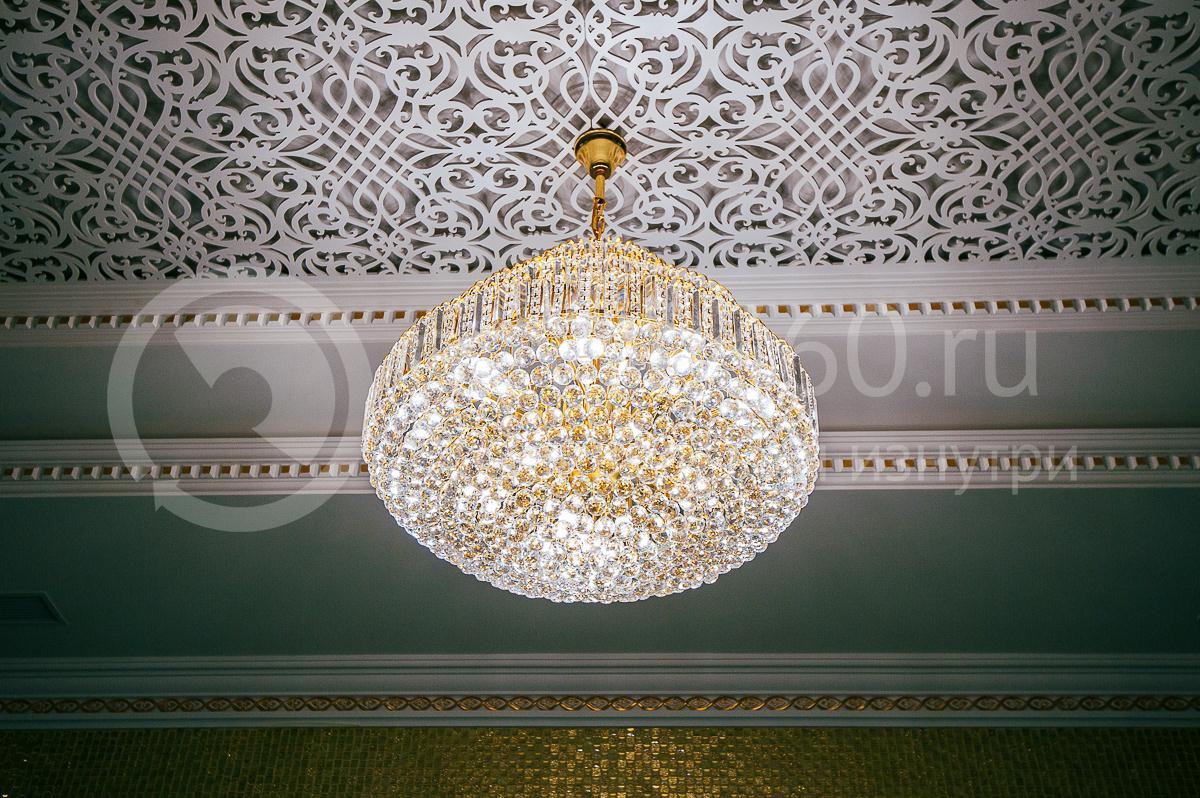 Ресторан, Банкетный зал, Опера палас, Краснодар, хрустальная люстра