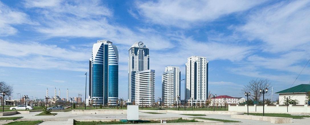 Комплекс высотных зданий в центре Грозного