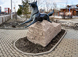 Памятник черному лису